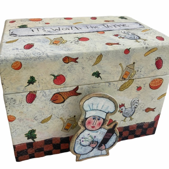 Other - Recipe box by Barbara Olsen includes recipe clip